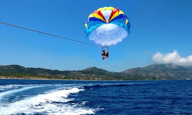 An amazing Parasailing Experience in Zakinthos, Greece