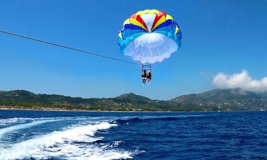 Enjoy Parasailing In Zakinthos, Greece