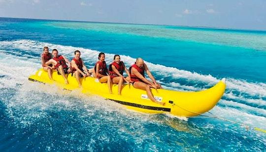 Have Fun On Banana Ride In Zakinthos, Greece