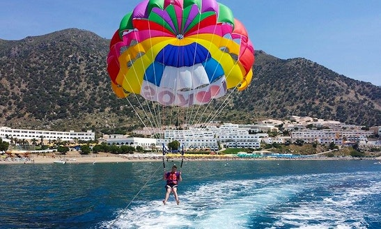 Enjoy Parasailing In Kardamena, Greece