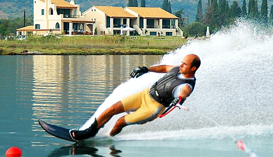 Water Skiing In Pithagorio, Greece
