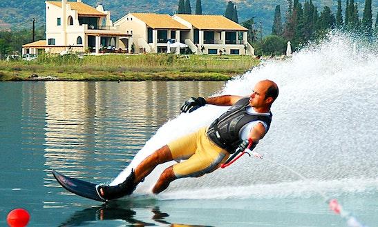 Enjoy Water Skiing In Pithagorio, Greece