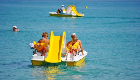 Rent A Pedal Boat With Water Slide In Sarti, Greece