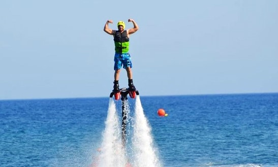 Enjoy Flyboarding In Sarti, Greece