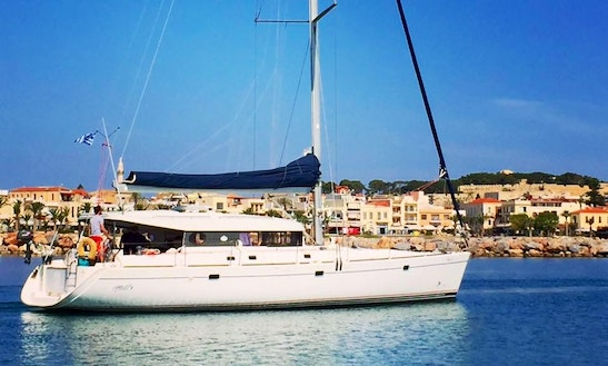 Sailing Experience Akasti Cruising Monohull In Rethymno, Greece 50 Feet