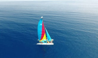 Charter Hobie Cat Beach Catamaran in Islas de la Bahía, Honduras