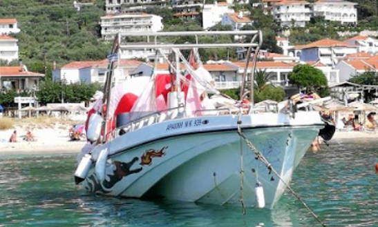 Center Console Rental For 5 People In Thasos, Greece