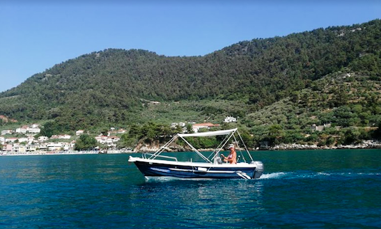 Rent A 5 Person Center Console In Thasos, Greece