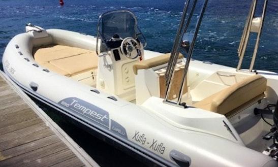 Rent 21' Tempest Hair 650 Rigid Inflatable Boat In Cadaqués, Spain