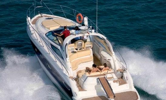 Charter 49' Cranchi Mediterranean Motor Yacht In Santa Eulària Des Riu, Spain
