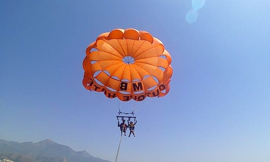 Enjoy Parasailing In Nerja, Spain