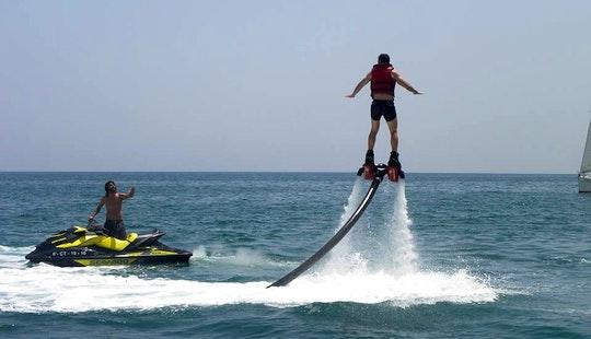 Enjoy Flyboarding In Oliva, Spain