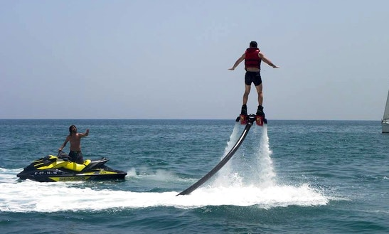 Enjoy Flyboarding In Oliva, Spain
