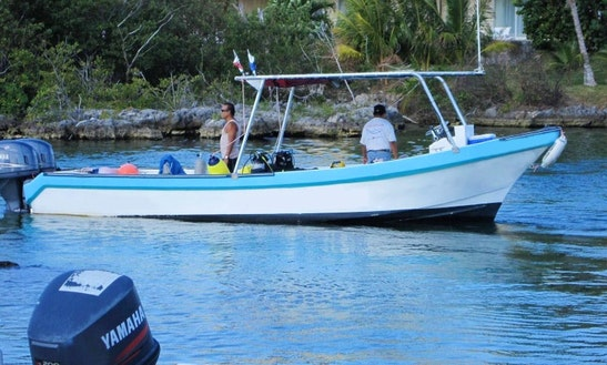Cozumel Rental Boat For Snorkeling Twin Outboard 26 Ft.