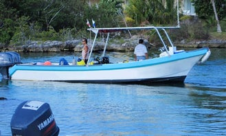Book a 26-foot Twin Outboard Boat for Snorkeling & Diving in Cozumel
