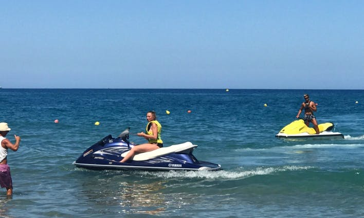 Hit the water on a Jet Ski in Rethymno, Greece for 2 people