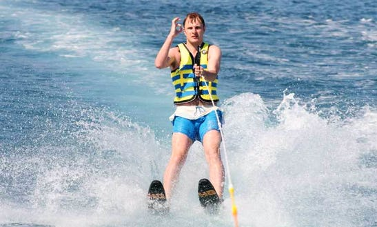 Enjoy Water Skiing In Adelianos Kampos, Greece