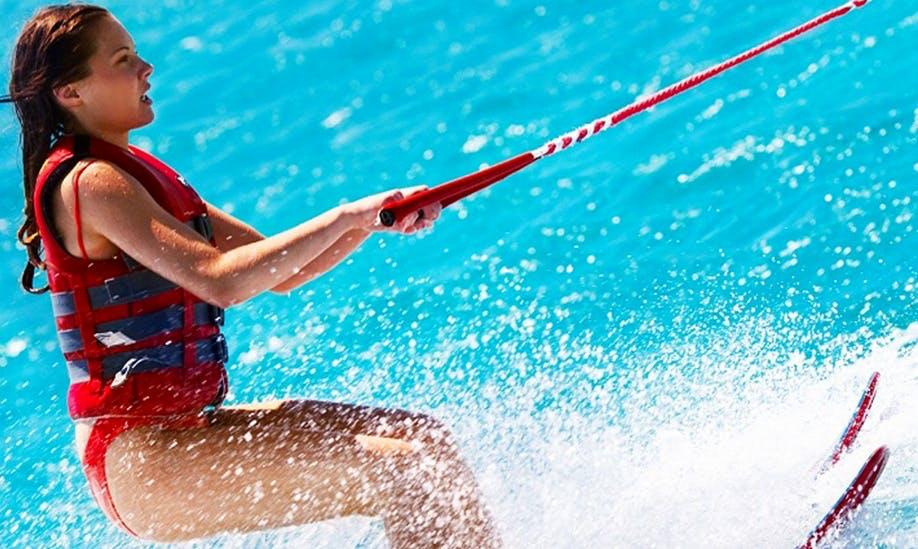 Enjoy Water Skiing in Kamari, Greece