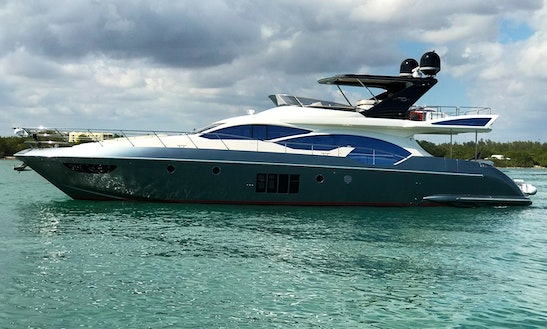 70' Ft Azimut Power Mega Yacht For Charter In Miami, Florida!!