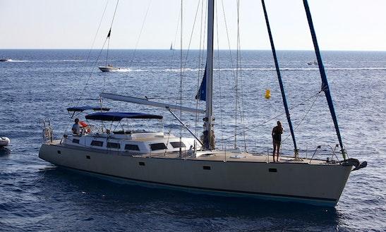 Sailing Mega Yacht Rental In Ibiza.