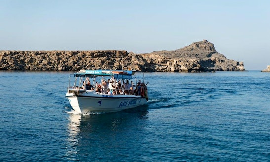 Charter A Glass Bottom Boat In Lindos, Greece