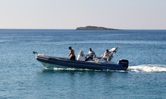 Charter 25' Third Parties Rigid Inflatable Boat In Kalivia Thorikou, Greece