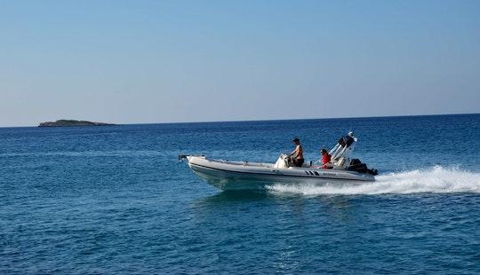 Charter 23' Armenist Rigid Inflatable Boat In Kalivia Thorikou, Greece