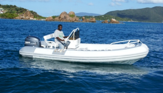 Charter 19' Rigid Inflatable Boat In Parham Town, British Virgin Islands