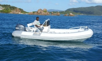 Charter 19' Rigid Inflatable Boat in Parham Town, British Virgin Islands