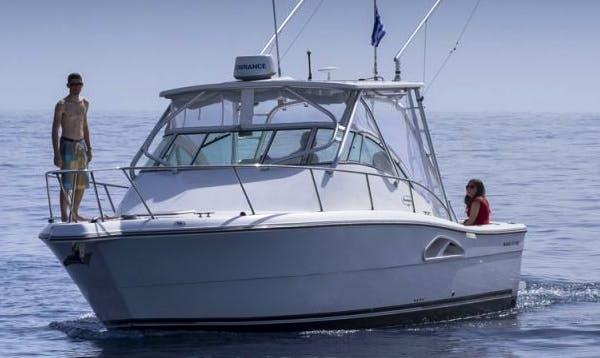 Captained Charter on 30' Motor Yacht in Santorini, Greece