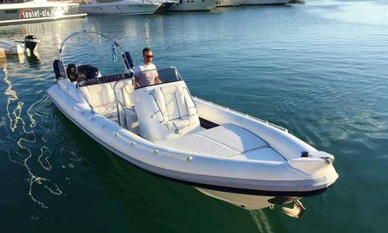 Charter 30' Cobra 860 Rigid Inflatable Boat In Paros, Greece