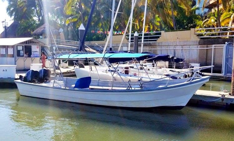 """Nuevo Vallarta Fishing Charter on """"Flipper III"""" Fishing Boat"""