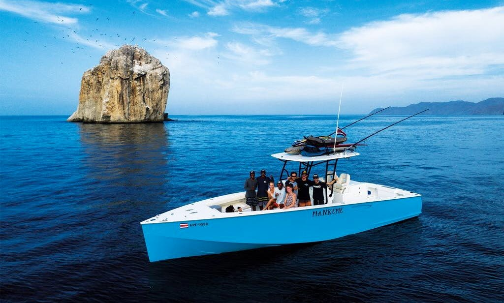 "Fishing and Surfing Charter On 34ft ""Mankeme"" Center Console in Tamarindo, Costa Rica"