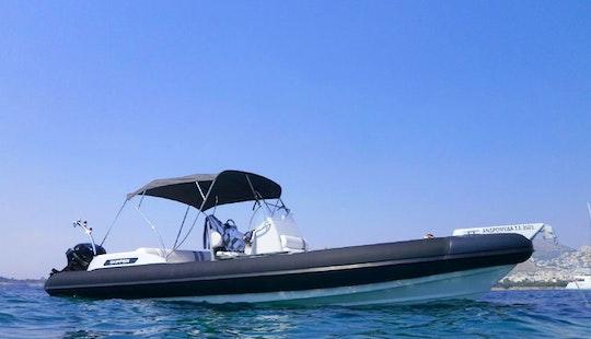 Charter 28' Skipper 4u S Rigid Inflatable Boat In Paleo Faliro, Greece