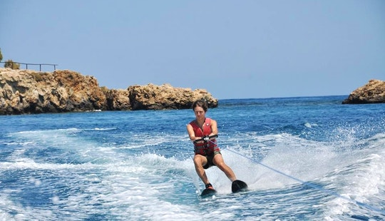 Enjoy Water Skiing In Agia Pelagia, Greece