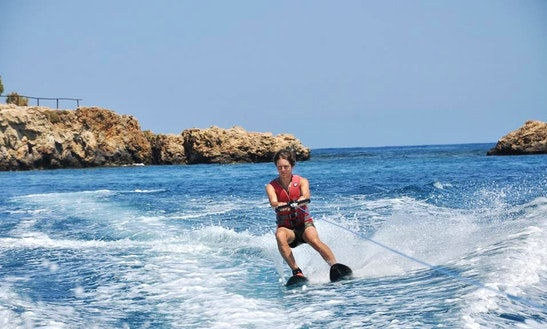 Enjoy Water Skiing In Agia Pelagia, Greece