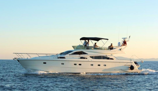 Charter 57' Ferretti Power Mega Yacht In Pirgos Sani, Greece