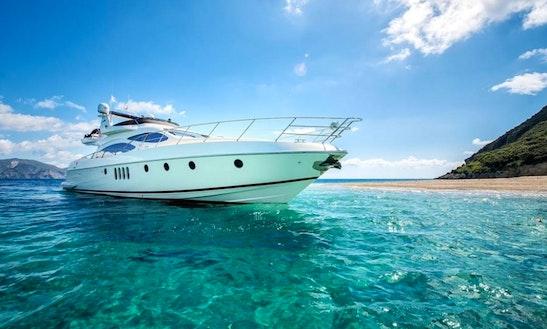 Charter 68' Azimut Plus Power Mega Yacht In Pirgos Sani, Greece