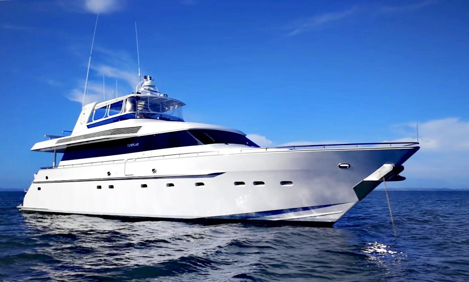 "Charter 84ft ""MY Templar"" Power Mega Yacht In Auckland, New Zealand"