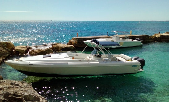 Bahamas Swimming Pigs On Twin Engine Open Fisherman Powerboats!