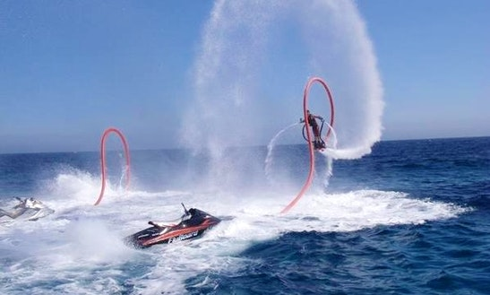 Enjoy Flyboarding In Arona, Spain