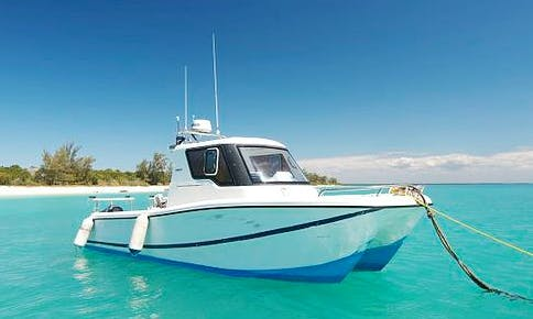 Come Out Let's Catch the Big Fish in Paje, Tanzania on 28' Saangue Power Catamaran