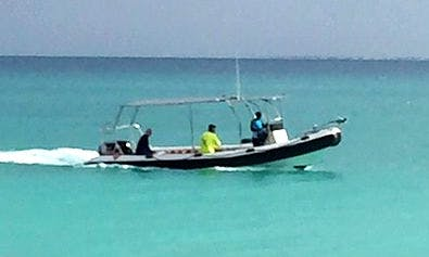 Hire the 26' Sukwe Rigid Inflatable Boat in Paje, Tanzania
