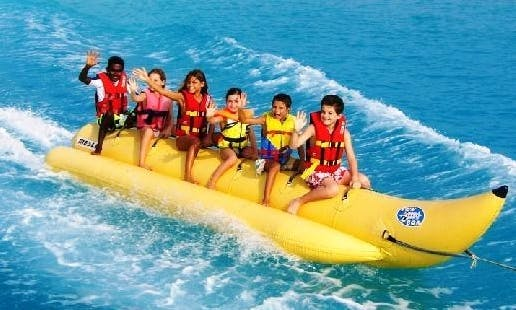 Wet and Wild Banana Boat Rides in Bali, Indonesia