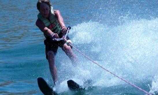 Water Skiing Off St. Nicholas Beach In Zakinthos