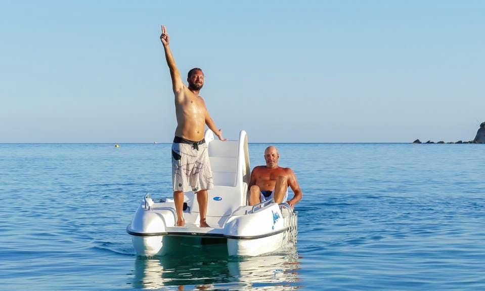 An amazing rental experience of pedal boat in Zakinthos, Greece