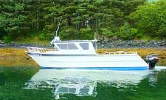37' Deck Boat Rental In Kodiak, Alaska