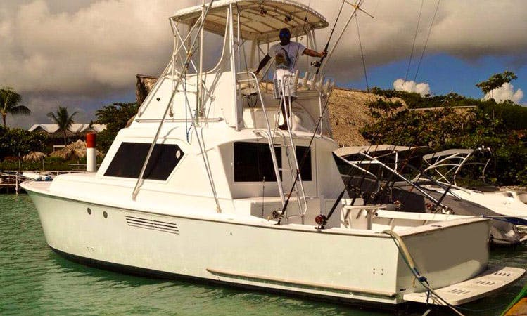 Fishing and Diving Boat in Punta Cana, Dominican Republic