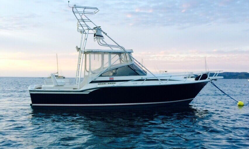 Enjoy Fishing in Playa Flamingo, Costa Rica on 32' Blackfin Sport Fisherman