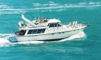 Charter 49ft Classic Motor Yacht in Dania Beach with Captain Eddie